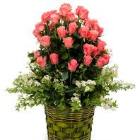 오사랑~분홍54꽃바구니