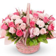 핑크톤 비누꽃