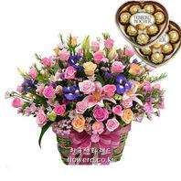 꽃 종합선물세트♥초코렛1개♥