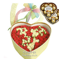 사랑해 장미박스+초코렛