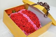 레드 & 핑크 장미100송이box