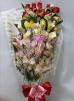 장미5색 돈래핑(50송이)