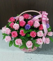 핑크로즈(비누꽃50송이)