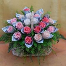 돈래핑 비누꽃바구니