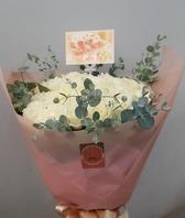 백장미꽃다발(실제배송된상품)
