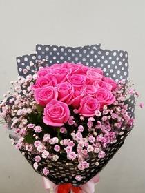 핑크장미,안개다발(배송상품)