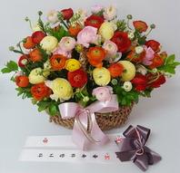 라넌큐러스꽃바구니(실제배송상품)