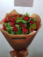 빨강장미꽃다발(배송된상품)