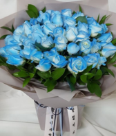 파랑장미50송이(배송된상품)
