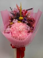 핑크수국혼합다발k5 (프리저브드)