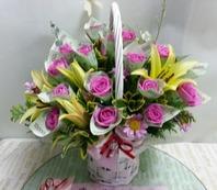 돈꽃바구니(핑크)
